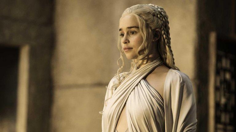 Emilia Clarke as Daenerys Targaryen in a scene