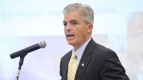 Suffolk County Executive Steve Bellone, pictured on Sept.