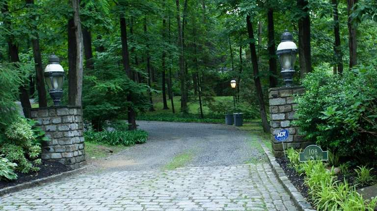 James M. Peister, whose driveway is pictured on