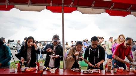 The annual Oyster Festival held in Oyster Bay