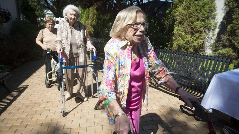 Selma Stone, 102, leads the line of fellow
