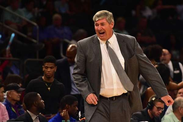 New York Liberty head coach Bill Laimbeer reacts