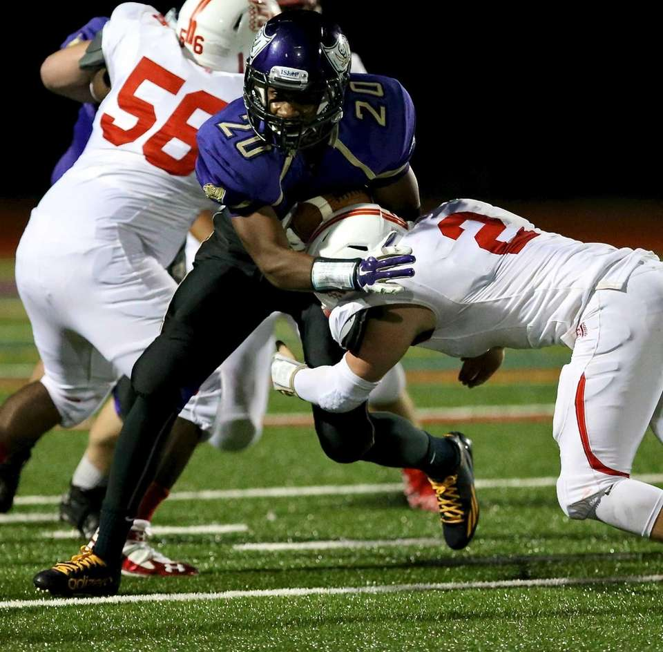 Islip RB Michael St. Lewis shakes off the