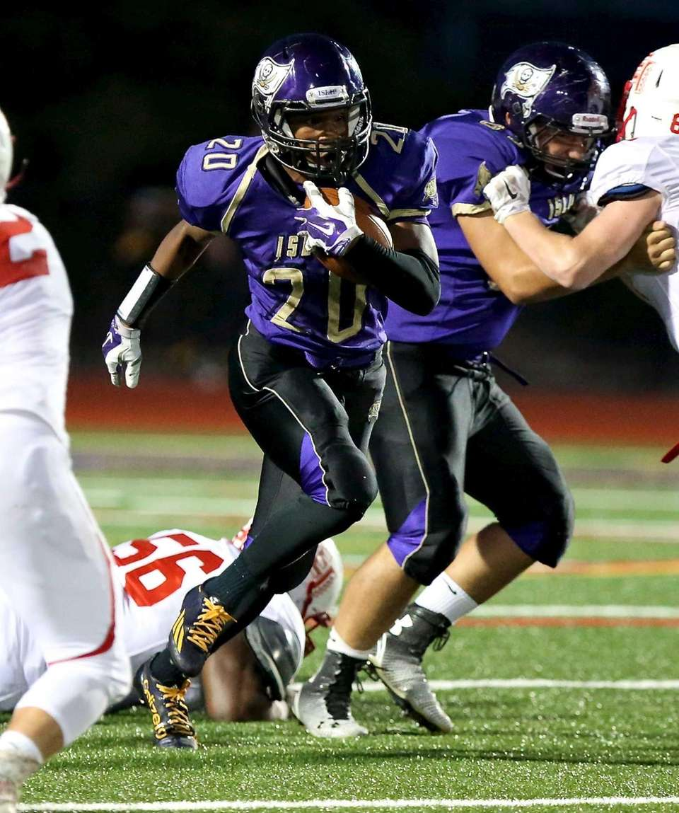 Islip RB Michael St. Lewis hits the hole