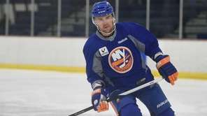 New York Islanders' Marek Zidlicky skates at training