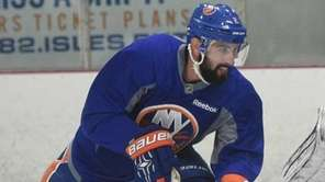 New York Islanders defender Nick Leddy and goalie