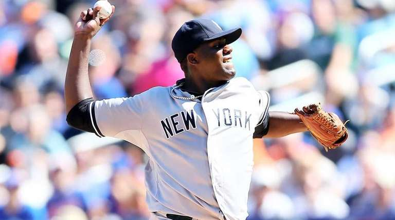 NMichael Pineda #35 of the New York Yankees