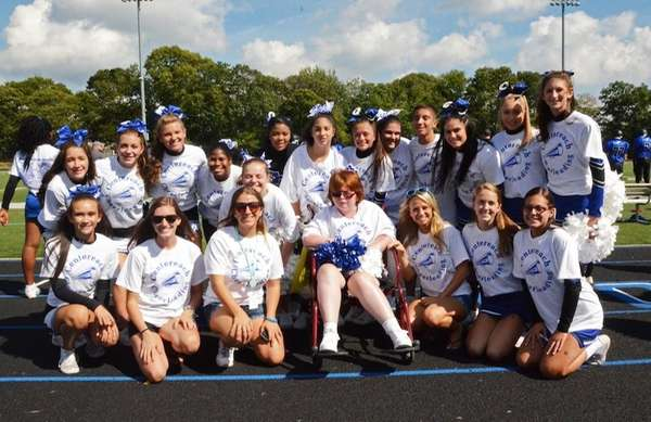 Centereach High School debuted its newest cheerleading squad,