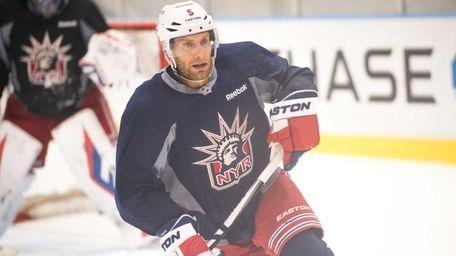 New York Rangers defenseman Dan Girardi (5) during