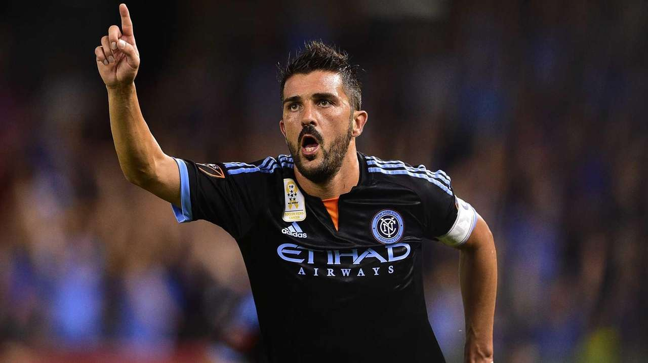 New York City FC forward David Villa (7)