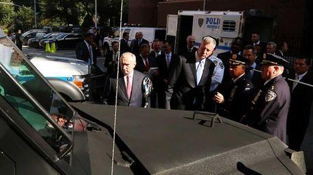 New York City Mayor Bill de Blasio and