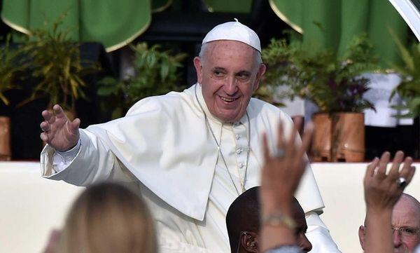 Pope Francis arrives at Revolution Square in Havana