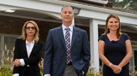 (l-r) Leslie Fastenberg, Cory Baker, and Marina Chimerine,