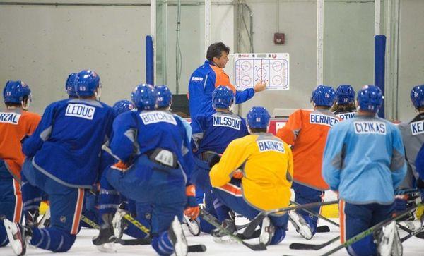 New York Islanders head coach Jack Capuanoo during