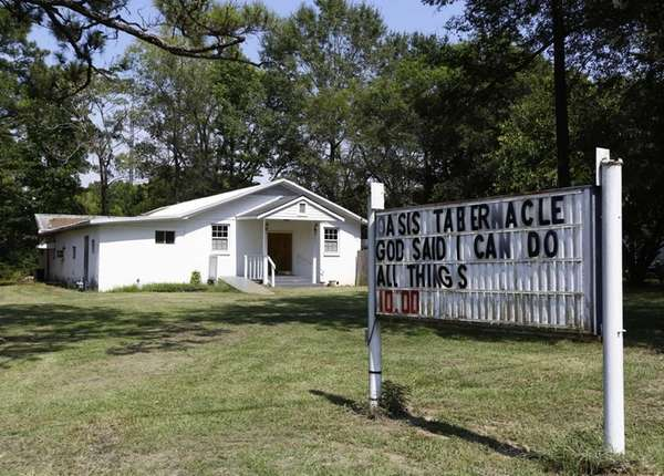 The Oasis Tabernacle Church is seen in East