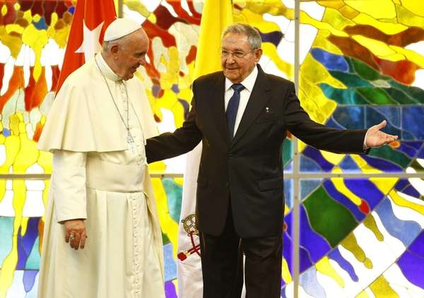 Pope Francis meets with Cuban President, Raul Castro,