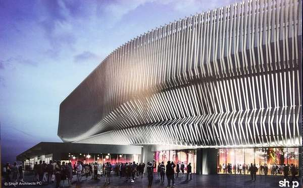 A rendering of the renovated Nassau Coliseum is