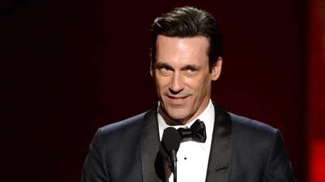 Jon Hamm accepts the award for outstanding lead