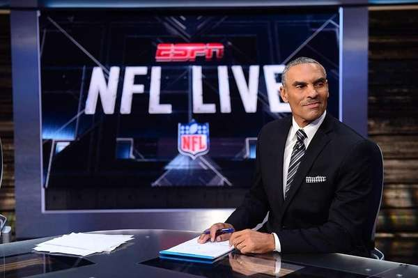Herm Edwards on the set of NFL Live