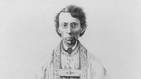 Illustration from the late 1800s of Father Felix