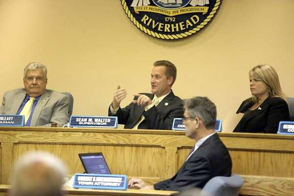 Riverhead Supervisor Sean Walter, pictured Sept. 16, 2015,