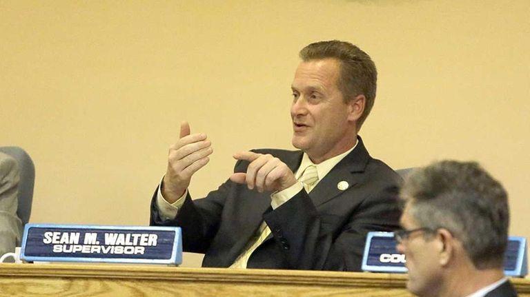 Riverhead Supervisor Sean Walter, pictured Sept. 16, 2015,