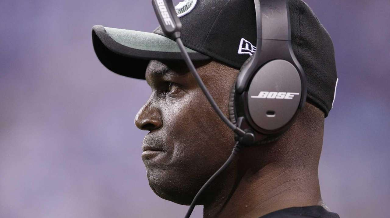 New York Jets head coach Todd Bowles looks