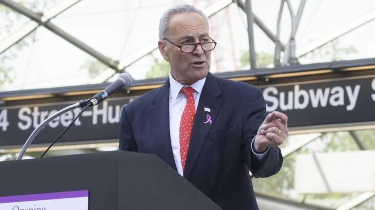 U.S. Senator Charles E. Schumer speaks during a