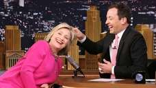 Democratic presidential candidate Hillary Rodham Clinton with host
