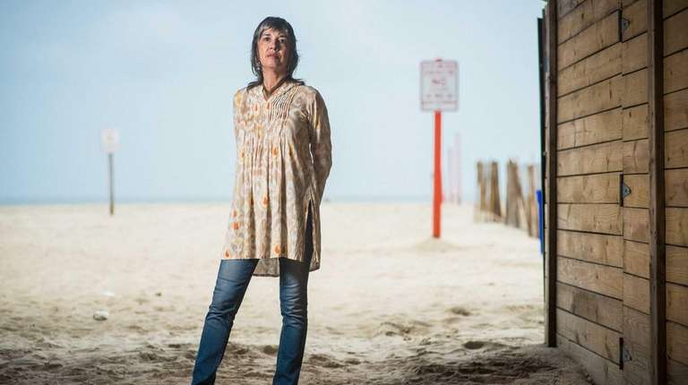 Author Judy Chicurel photographed underneath the Long Beach