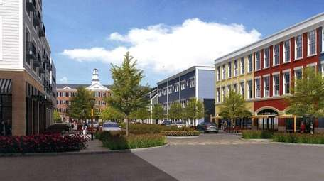 Artists rendering of proposed new buildings on Main