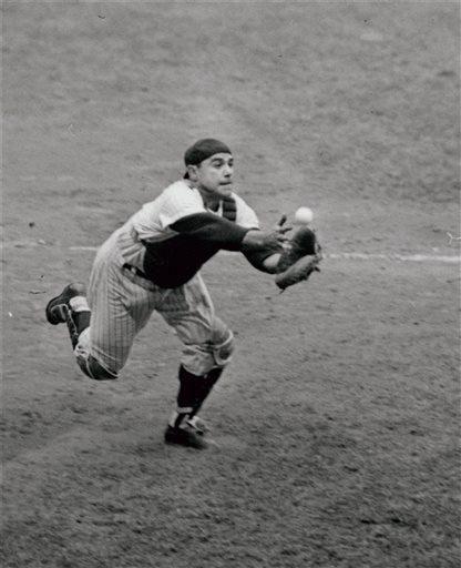 Catcher Yogi Berra of the New York Yankees