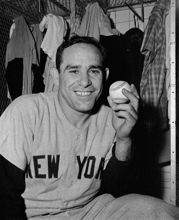 Catcher Yogi Berra of the New York Yankees