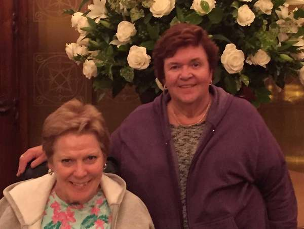 Michele DelMonte, left, and Sister Pat Duffy, both