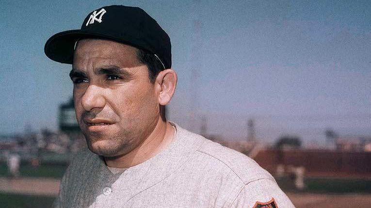Yankees catcher Yogi Berra at spring training in