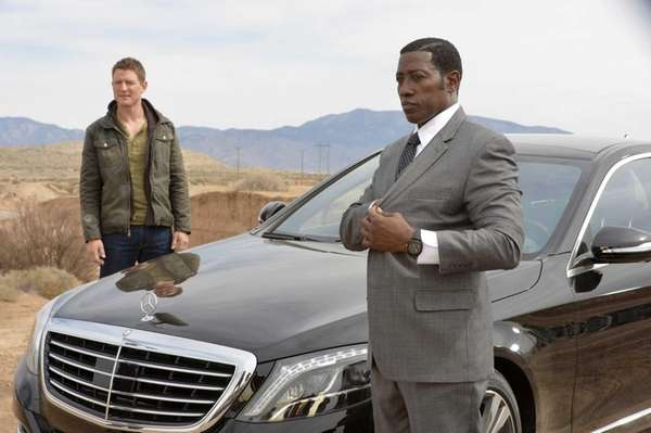 Philip Winchester, left, as Alex King, and Wesley