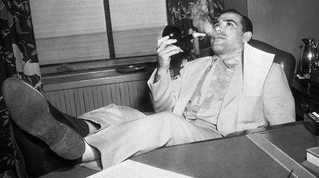 Yogi Berra, catcher of world champion New York