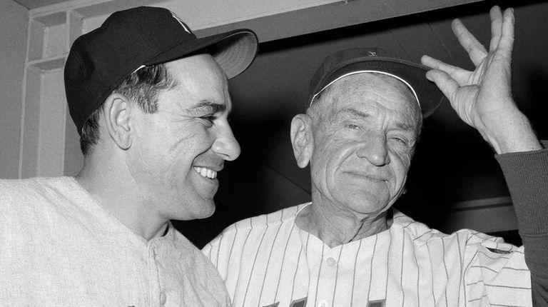 New York Yankees manager Yogi Berra, left, and