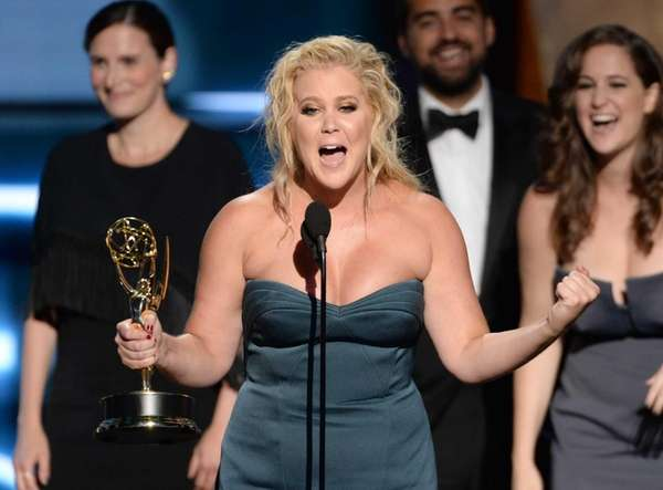 Amy Schumer, who just won an Emmy on