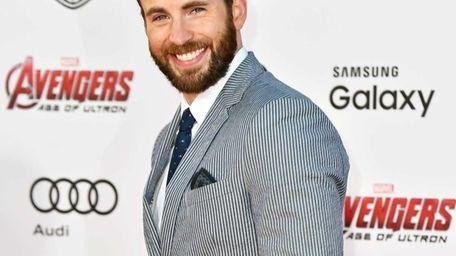Chris Evans arrives at the Los Angeles premiere