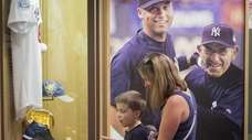 Yankees fan Melanie Schowalter and her son Hudson,