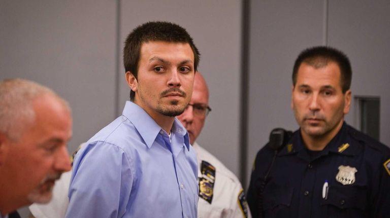 Nicholas Franzone, 22, of Northport, at his arraignment