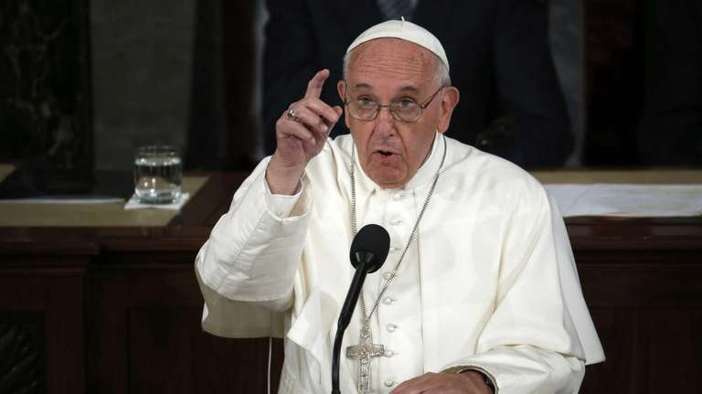 Pope Francis addresses a joint meeting of Congress
