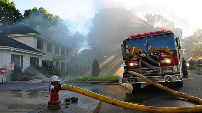 Firefighters were called to a rectory fire at
