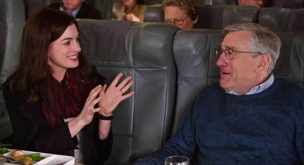 Anne Hathaway and Robert De Niro as Ben