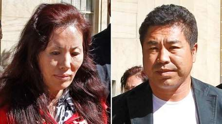 Shuwen Ai, 46, and Zhaowei Yin, 49, face