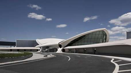 The landmark terminal, with its wing-shaped roof and