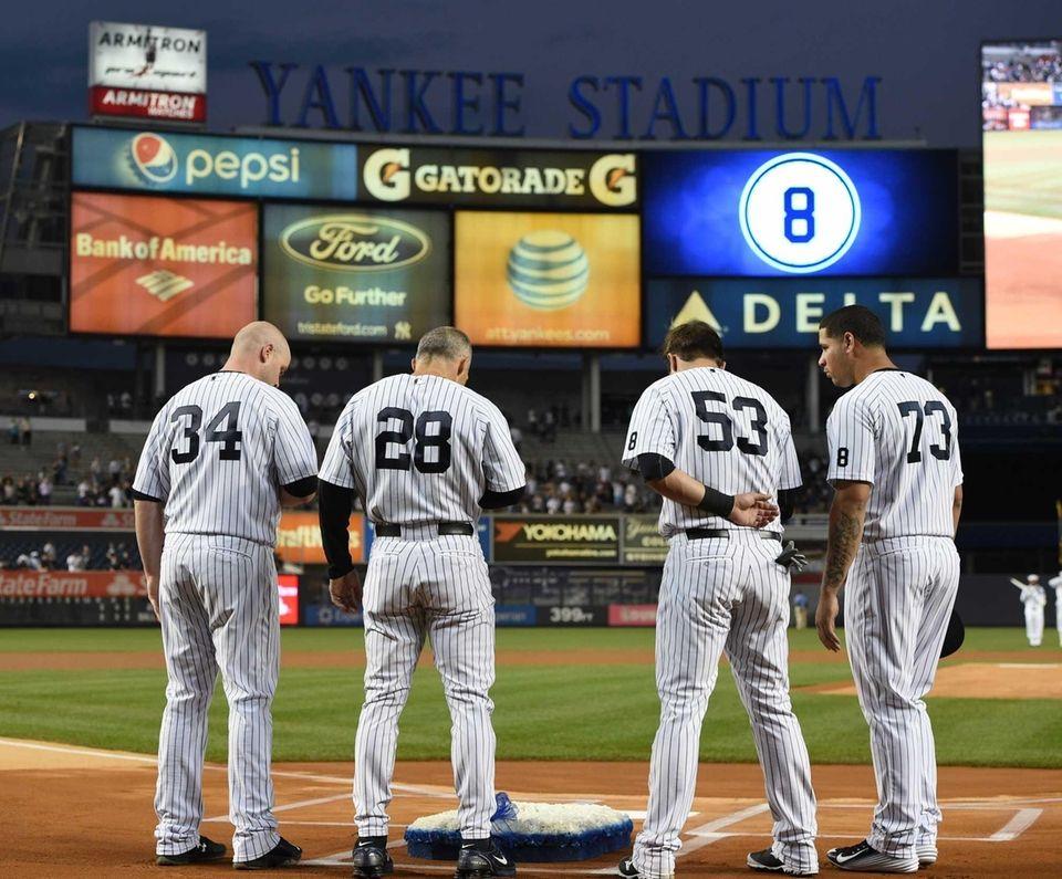 New York Yankees Catcher Brian Yankee Stadium Wallpaper Mural