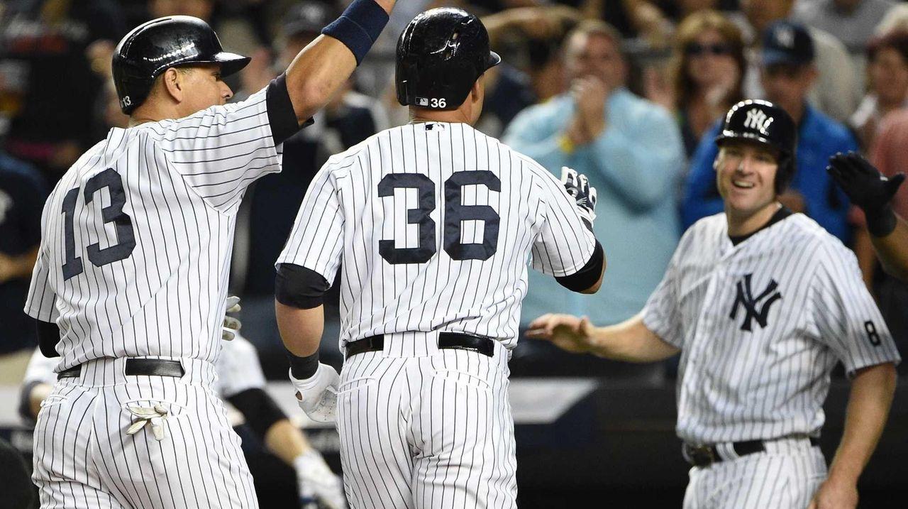 New York Yankees designated hitter Alex Rodriguez and