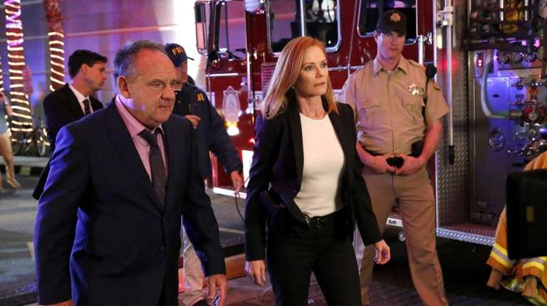 Paul Guilfoyle and Marg Helgenberger in